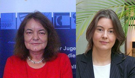 Elke Monssen-Enberding (links), Petra Meier (rechts) © BPjM / KJM